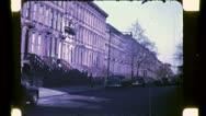 Tenement Brownstone Buildings NYC 1940s (Vintage Retro Film Home Movie) 4789 Stock Footage