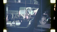 OLD MAN DRIVES JUNK Wagon Cart NYC 1940s (Vintage Film Retro Home Movie) 4790 Stock Footage