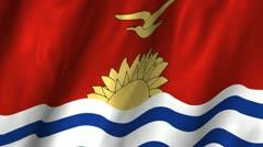 Kiribati Waving Flag Stock Footage
