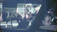 OLD MAN DRIVES JUNK Wagon Cart NYC 1940s (Vintage Film Retro Home Movie) 4791 Stock Footage