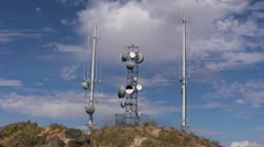 Telecom Towers - stock footage