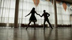 Training to dance Stock Footage