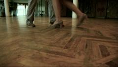 Steps during dance Stock Footage