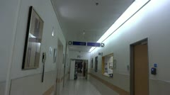 Emergency room in hospital entrance Stock Footage