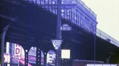 ELEVATED SUBWAY TRAIN '3rd Ave El' NYC 1940s (Vintage Film Home Movie) 4797 Stock Footage
