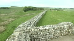 Hadrian's Wall Clip 4 Stock Footage
