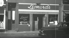 JEWISH KOSHER RESTAURANT Cafe New York City 1940 (Vintage Film Home Movie) 4799 Stock Footage