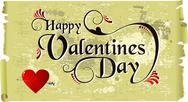 Happy valentines day vintage background Stock Illustration