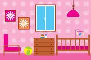 Child room for the newborn Stock Illustration