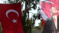 Ataturk flag Stock Footage