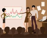 Business meeting. presentation Stock Illustration