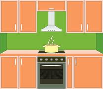 Kitchen furniture. Stock Illustration