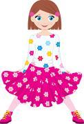Happy girl Stock Illustration