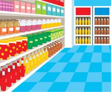 Supermarket Stock Illustration