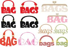 Word of bag in the form of a logotype Stock Illustration