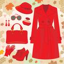 Stock Illustration of autumn fashion set