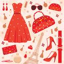 Stock Illustration of paris fashion set