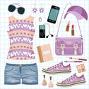 Stock Illustration of youth fashionable set