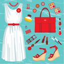 Stock Illustration of fashion set