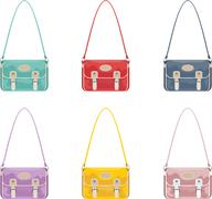 set of youth bags - stock illustration