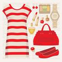 Fashion set with a tunic Stock Illustration