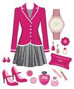 fashion set - stock illustration