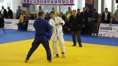 Judo Championship. - stock footage