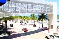 Beach in South Florida Stock Photos