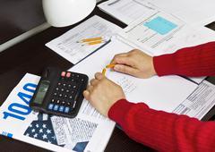 tax frustration - stock photo