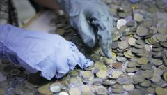 Hands Counting money Stock Footage