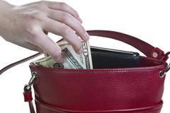 purse heist - stock photo
