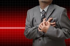 heart attack - stock illustration