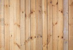 rough wooden wall - stock photo