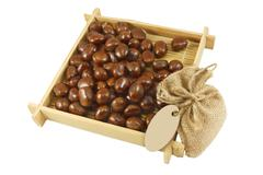 Stock Photo of a pile of chestnuts