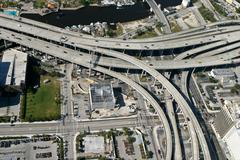 Interstate highway system Stock Photos