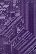 abstract electronic computer violet background - stock photo