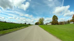 Driving POV Pennsylvania Country Road Stock Footage