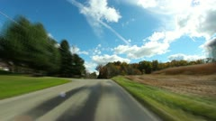 Driving POV Country Road  Stock Footage