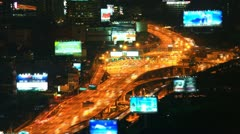 Density of cars on the roads and freeways in rush hour. Stock Footage