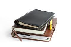 Stack of ring binder book or notebook Stock Photos