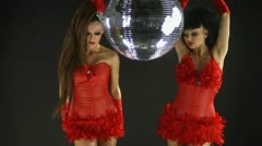 Gogo dancer burlesuqe disco girl Stock Footage