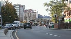 Cambridge, Massachusetts Downtown Street - stock footage