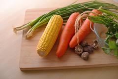 healthy living with vegetables - stock photo
