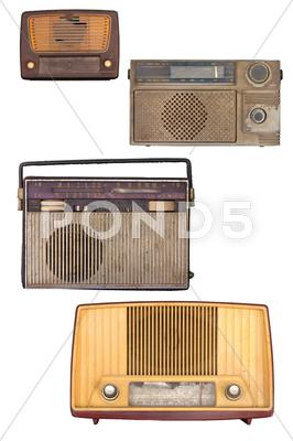 Stock photo of portable old soviet radio