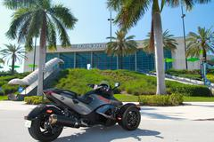 Motorcycle Tricycle, 2011 Can-Am Spyder RS-S - stock photo