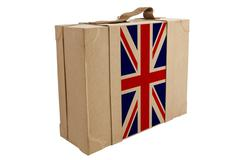 nation flag. box recycled paper - stock photo