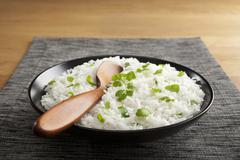 basmati rice with coriander - stock photo