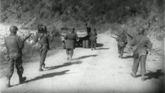 Troops Advance Korean War (Vintage Military News Film Footage) 4802 - stock footage