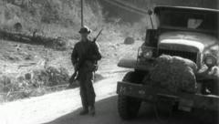 Troops Advance Korean War (Vintage Military News Film Footage) 4803a - stock footage