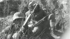 Rifleman SOLDIERS COMBAT Sniper Korean War Vintage Military Movie Film 4806 - stock footage